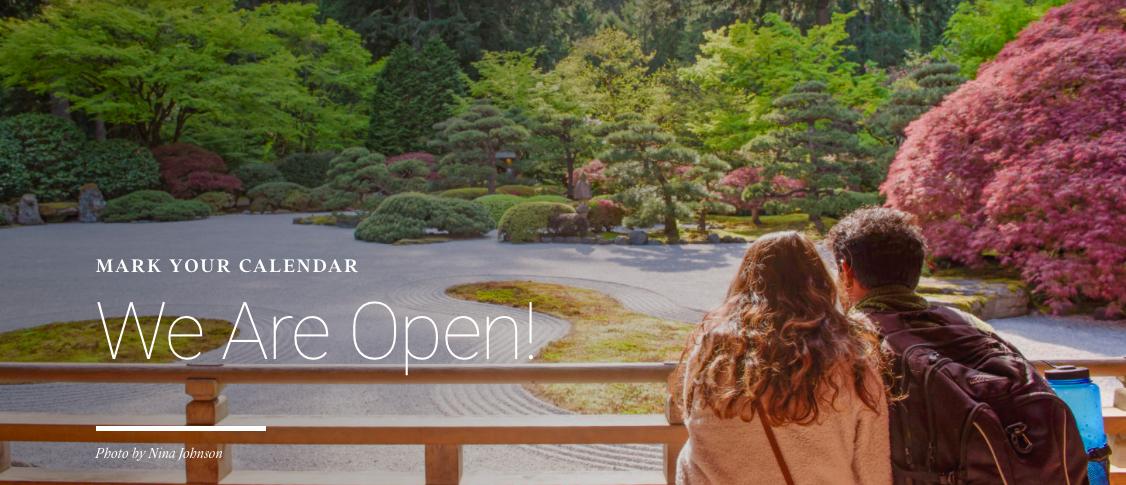 The Portland Japanese Garden Re-Opens